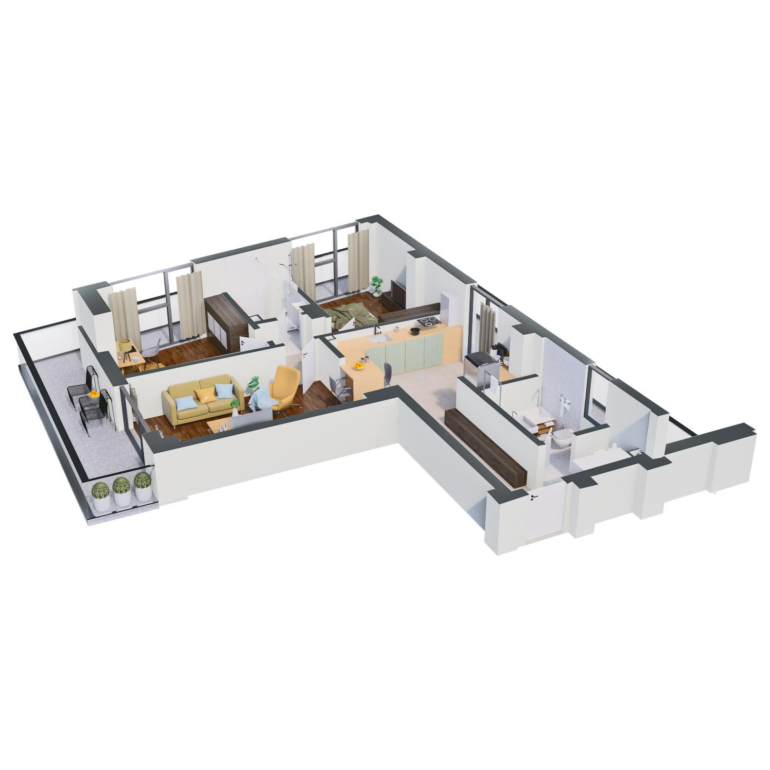 Apartament 3 camere de vanzare Bucuresti - Catedral Residence - Marriott, Piata Unirii, 13 Septembrie, Izvor - Tip 1 - T1 - B