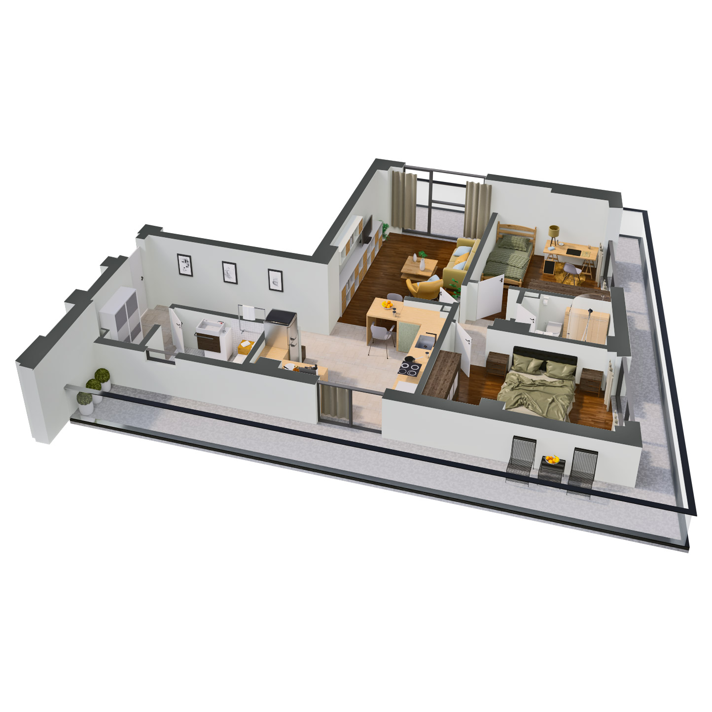 Apartament 3 camere de vanzare Bucuresti - Catedral Residence - Marriott, Piata Unirii, 13 Septembrie, Izvor - Tip 1 - T1 - D