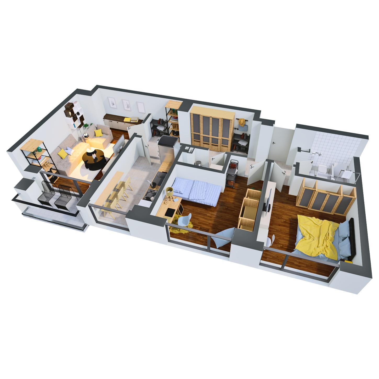 Apartament 3 camere de vanzare Bucuresti - Catedral Residence - Marriott, Piata Unirii, 13 Septembrie, Izvor - Tip 2 - T2 - C