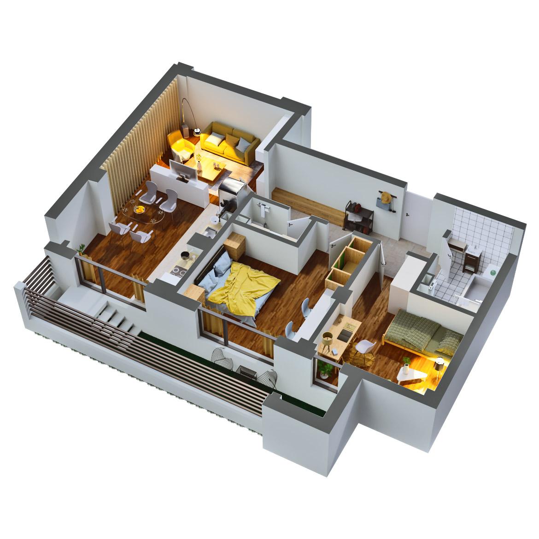Apartament 3 camere de vanzare Bucuresti - Catedral Residence - Marriott, Piata Unirii, 13 Septembrie, Izvor - Tip 3 - T2 - C