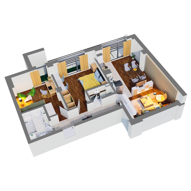Apartament 3 camere de vanzare Bucuresti - Catedral Residence - Marriott, Piata Unirii, 13 Septembrie, Izvor - Tip 3 - T2 - D