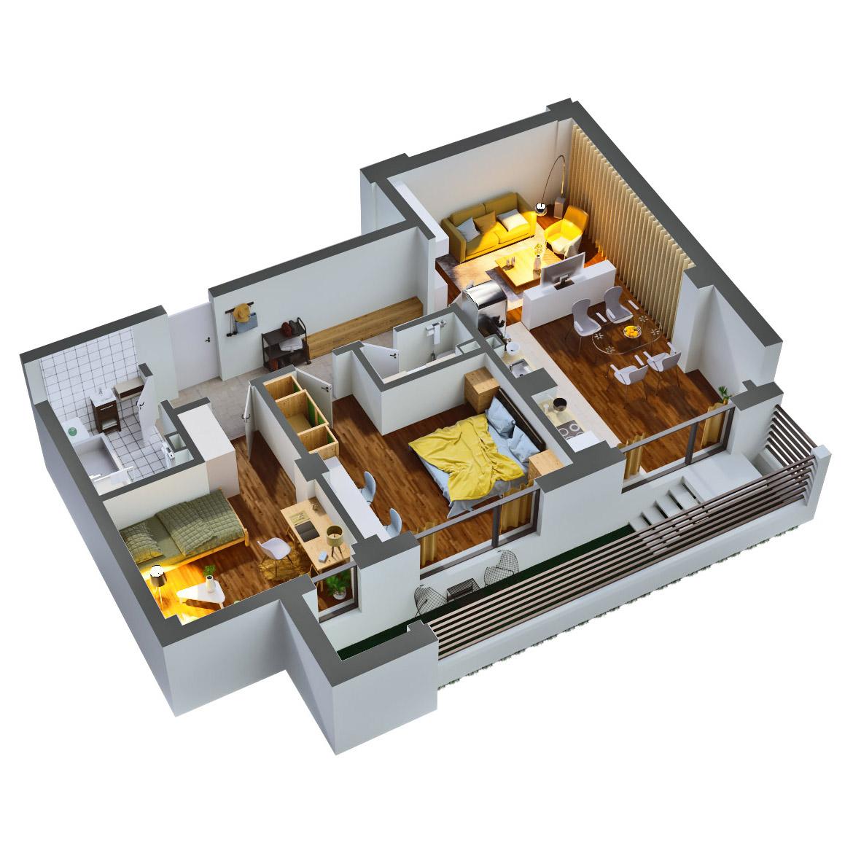Apartament 3 camere de vanzare Bucuresti - Catedral Residence - Marriott, Piata Unirii, 13 Septembrie, Izvor - Tip 3 - T2A - C