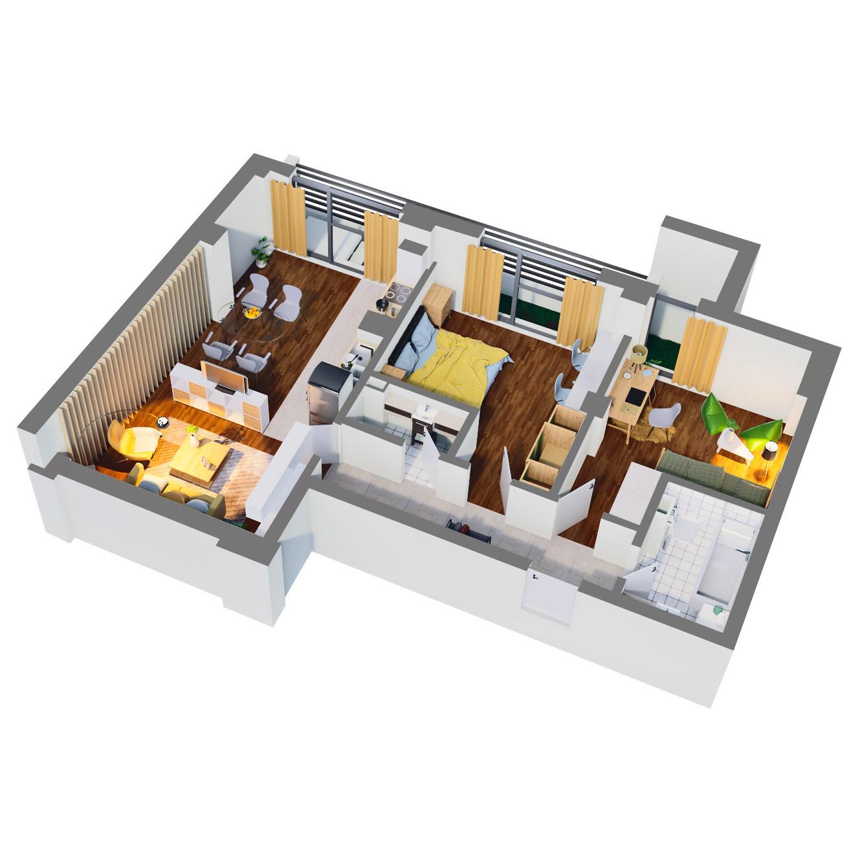 Apartament 3 camere de vanzare Bucuresti - Catedral Residence - Marriott, Piata Unirii, 13 Septembrie, Izvor - Tip 3 - T2A - D