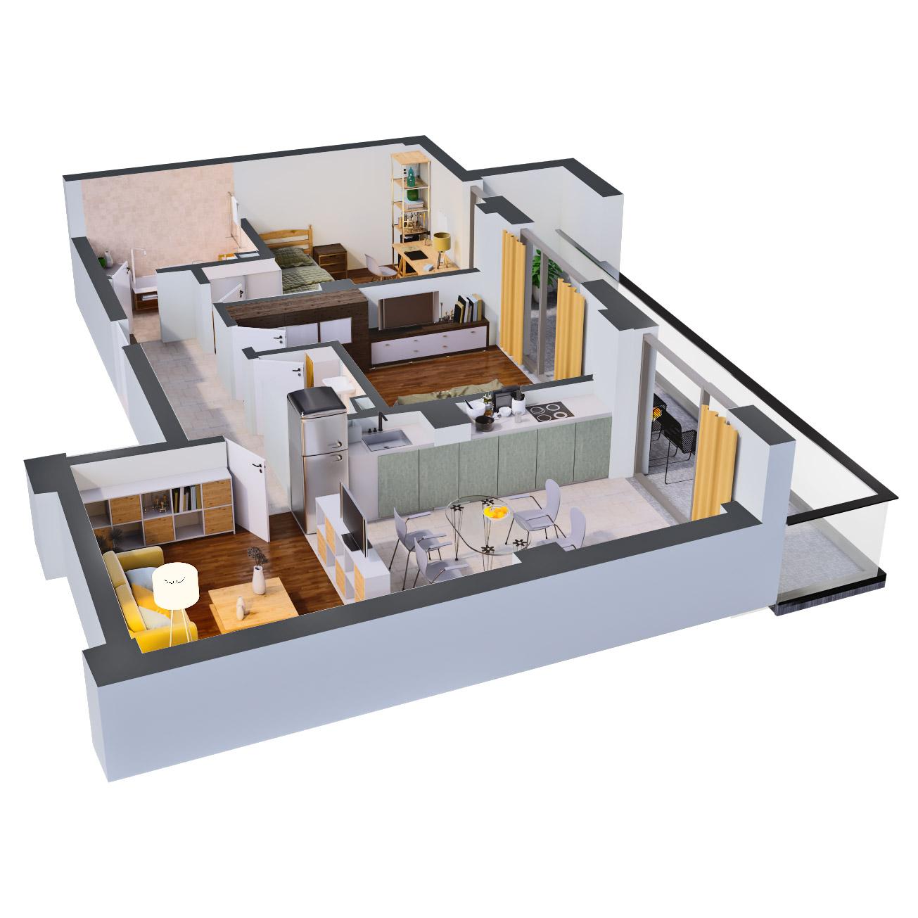 Apartament 3 camere de vanzare Bucuresti - Catedral Residence - Marriott, Piata Unirii, 13 Septembrie, Izvor - Tip 4 - T2 - C