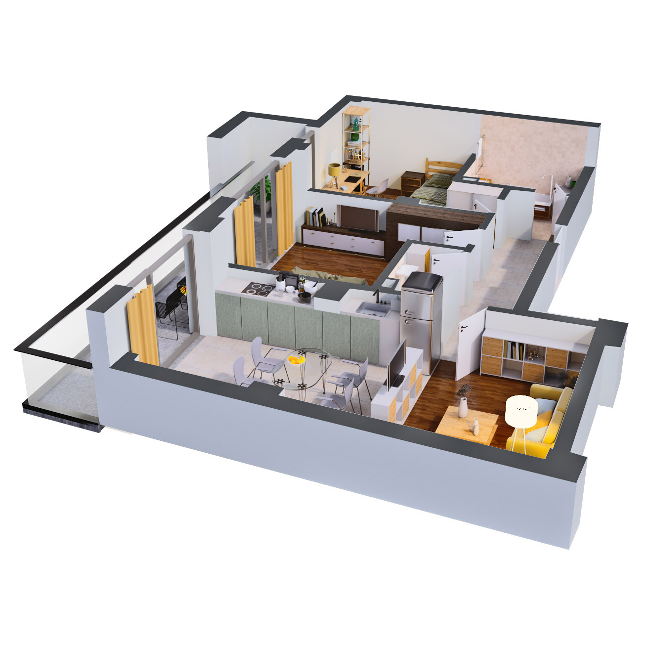 Apartament 3 camere de vanzare Bucuresti - Catedral Residence - Marriott, Piata Unirii, 13 Septembrie, Izvor - Tip 4 - T2A - C