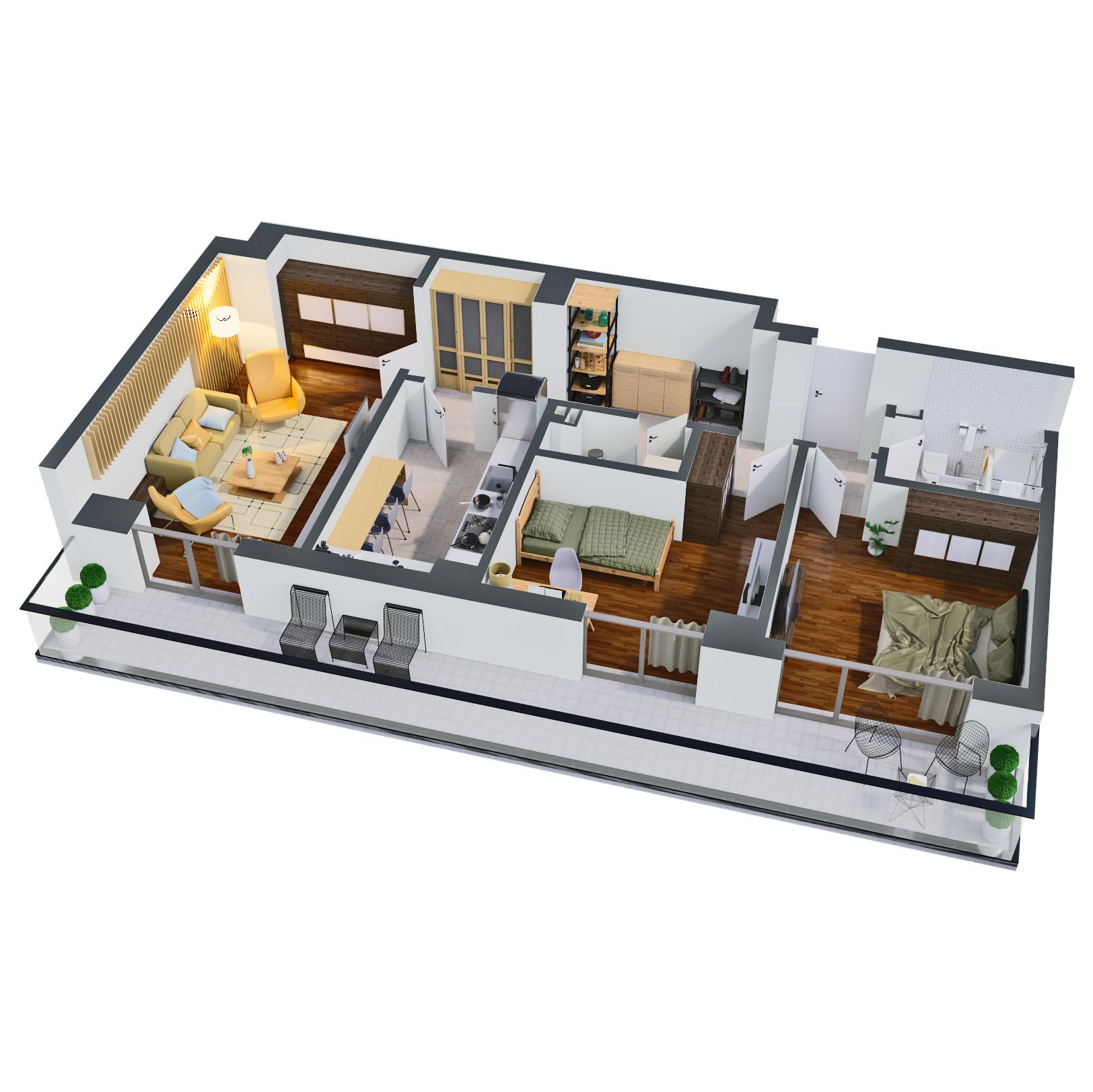 Apartament 3 camere de vanzare Bucuresti - Catedral Residence - Marriott, Piata Unirii, 13 Septembrie, Izvor - Tip 5 - T2 - B