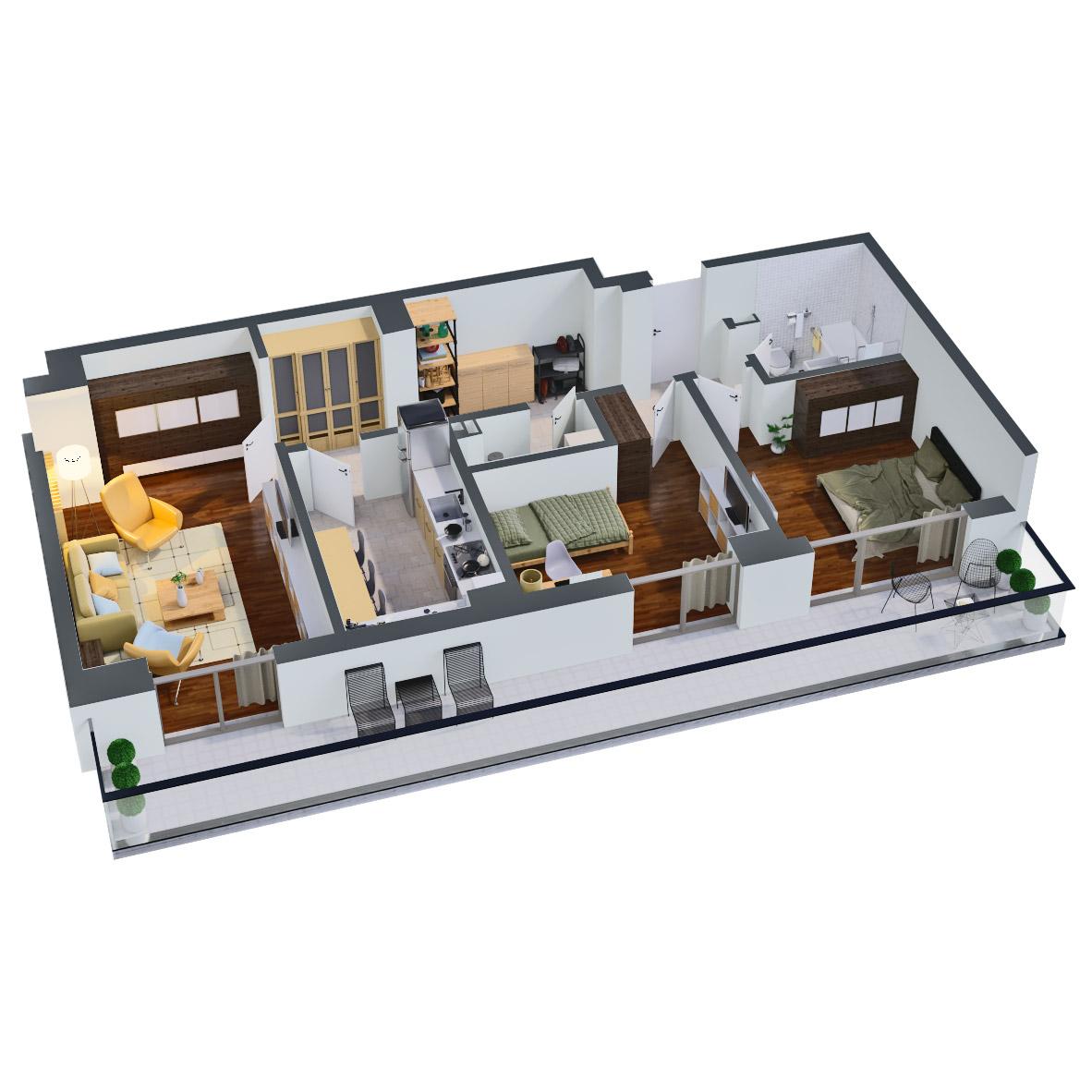 Apartament 3 camere de vanzare Bucuresti - Catedral Residence - Marriott, Piata Unirii, 13 Septembrie, Izvor - Tip 5 - T2 - C