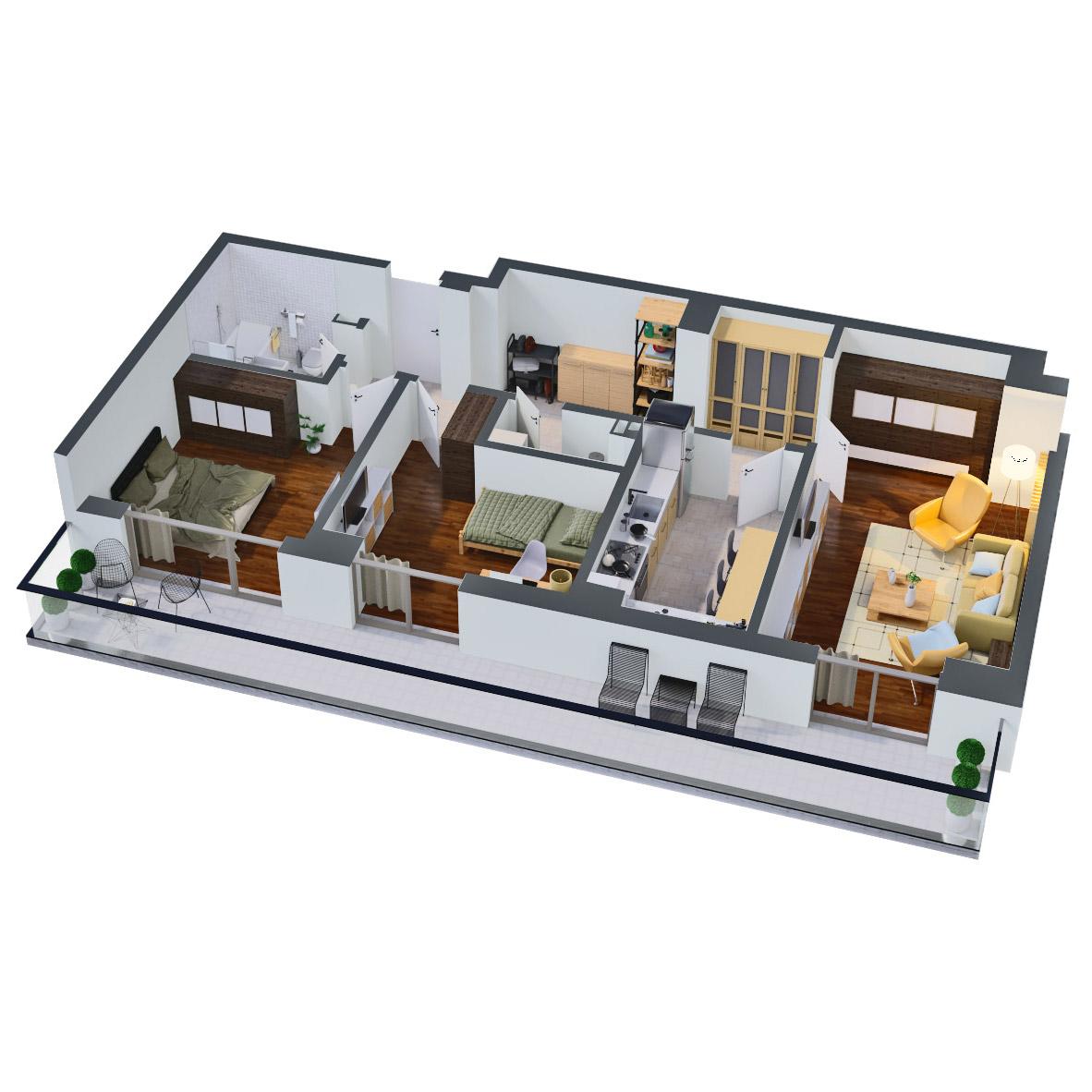 Apartament 3 camere de vanzare Bucuresti - Catedral Residence - Marriott, Piata Unirii, 13 Septembrie, Izvor - Tip 5 - T2A - C