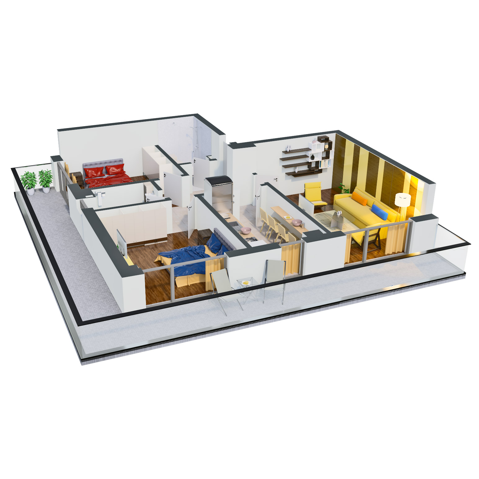 Apartament 3 camere de vanzare Bucuresti - Catedral Residence - Marriott, Piata Unirii, 13 Septembrie, Izvor - Tip 6 - T2 - C