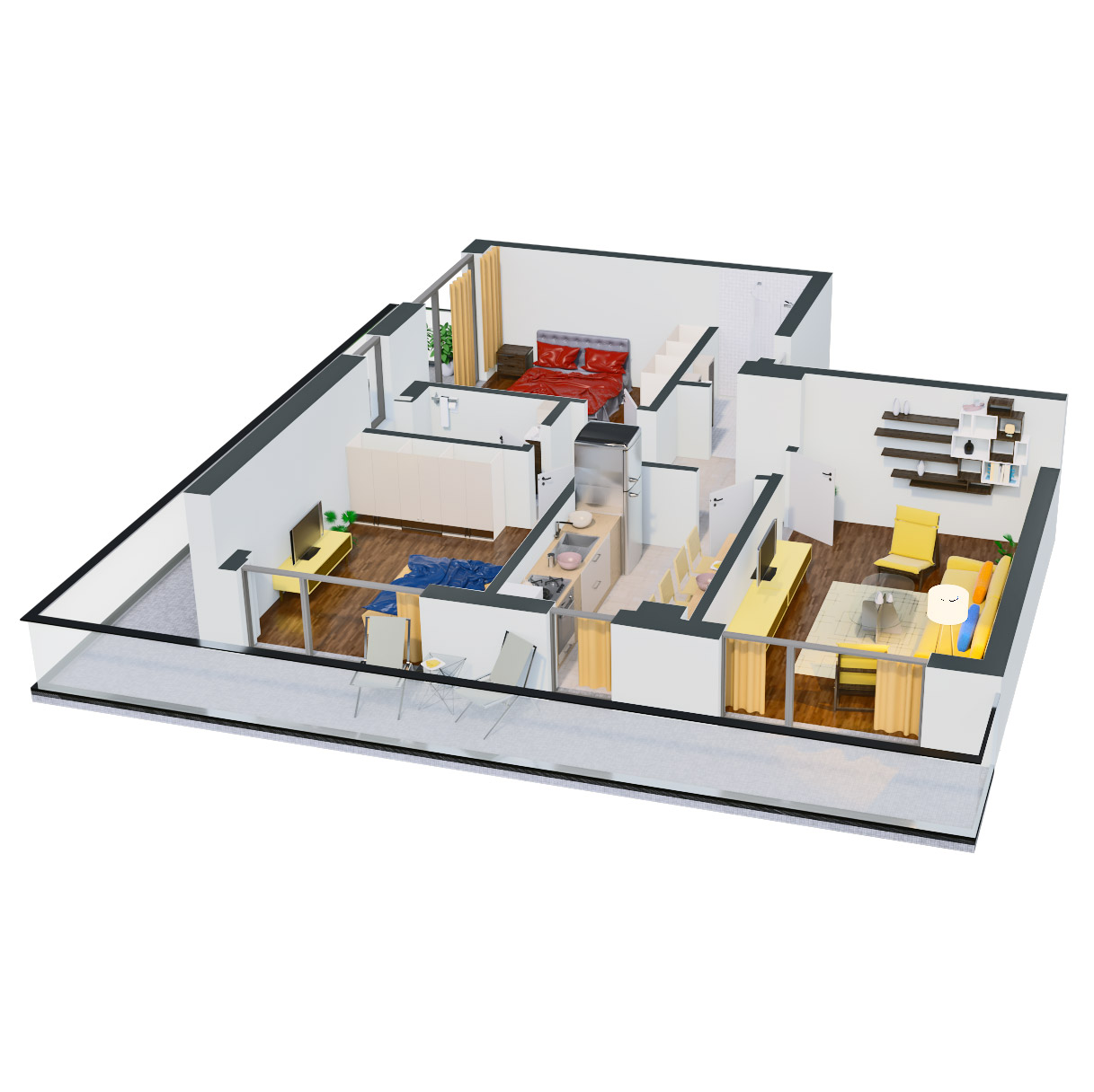 Apartament 3 camere de vanzare Bucuresti - Catedral Residence - Marriott, Piata Unirii, 13 Septembrie, Izvor - Tip 6 - T2 - D