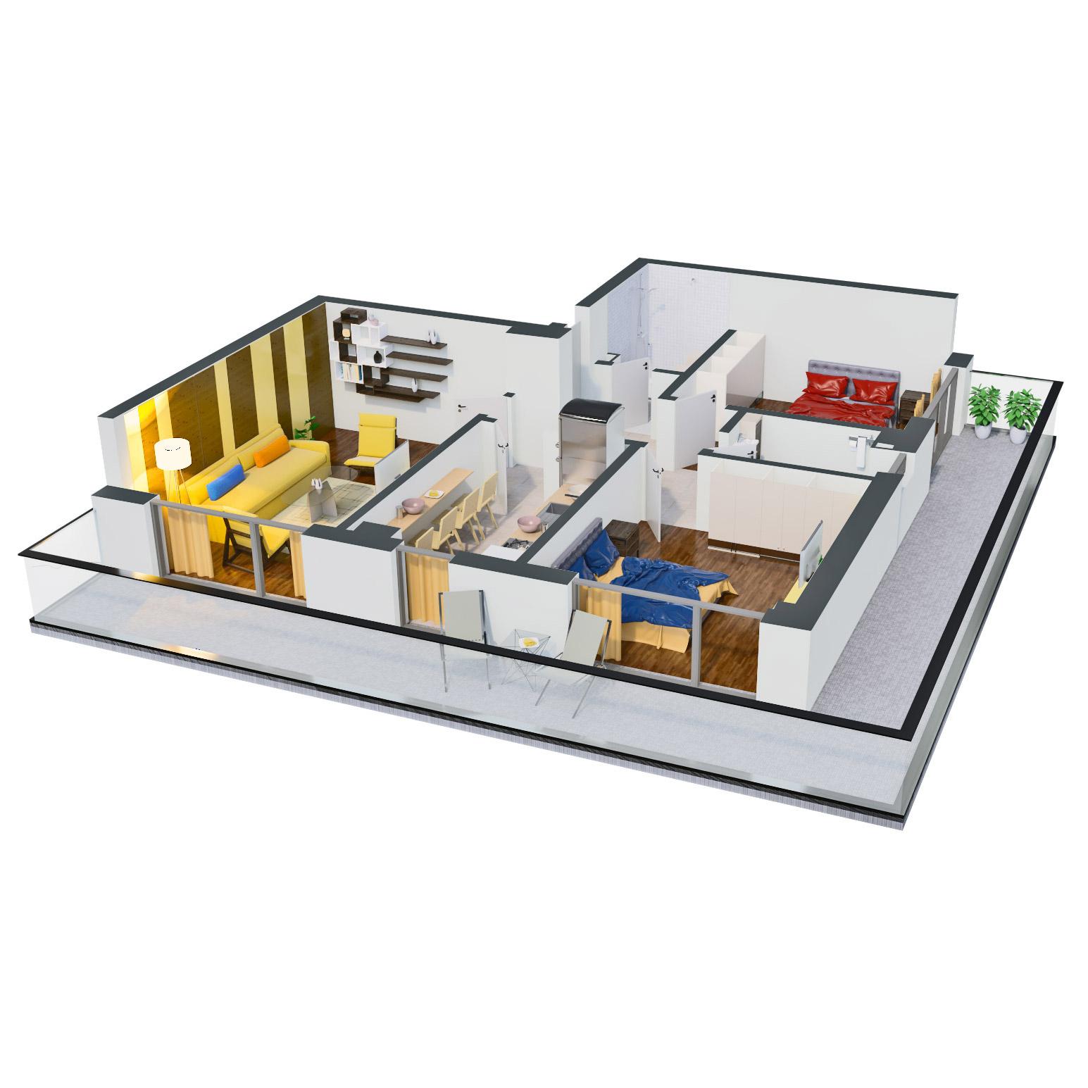 Apartament 3 camere de vanzare Bucuresti - Catedral Residence - Marriott, Piata Unirii, 13 Septembrie, Izvor - Tip 6 - T2A - C