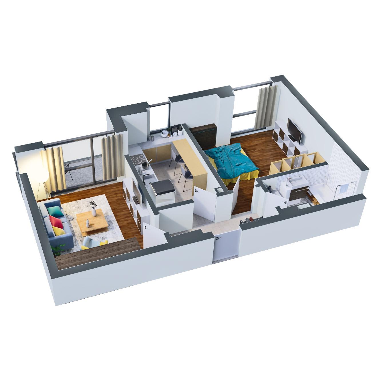 Apartament 2 camere de vanzare Bucuresti - Catedral Residence - Marriott, Piata Unirii, 13 Septembrie, Izvor - Tip 3 - T1 - D