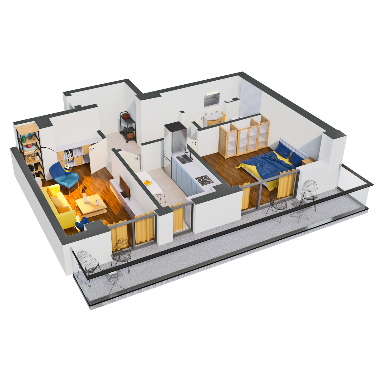 Apartament 2 camere de vanzare Bucuresti - Catedral Residence - Marriott, Piata Unirii, 13 Septembrie, Izvor - Tip 3 - T2 - B