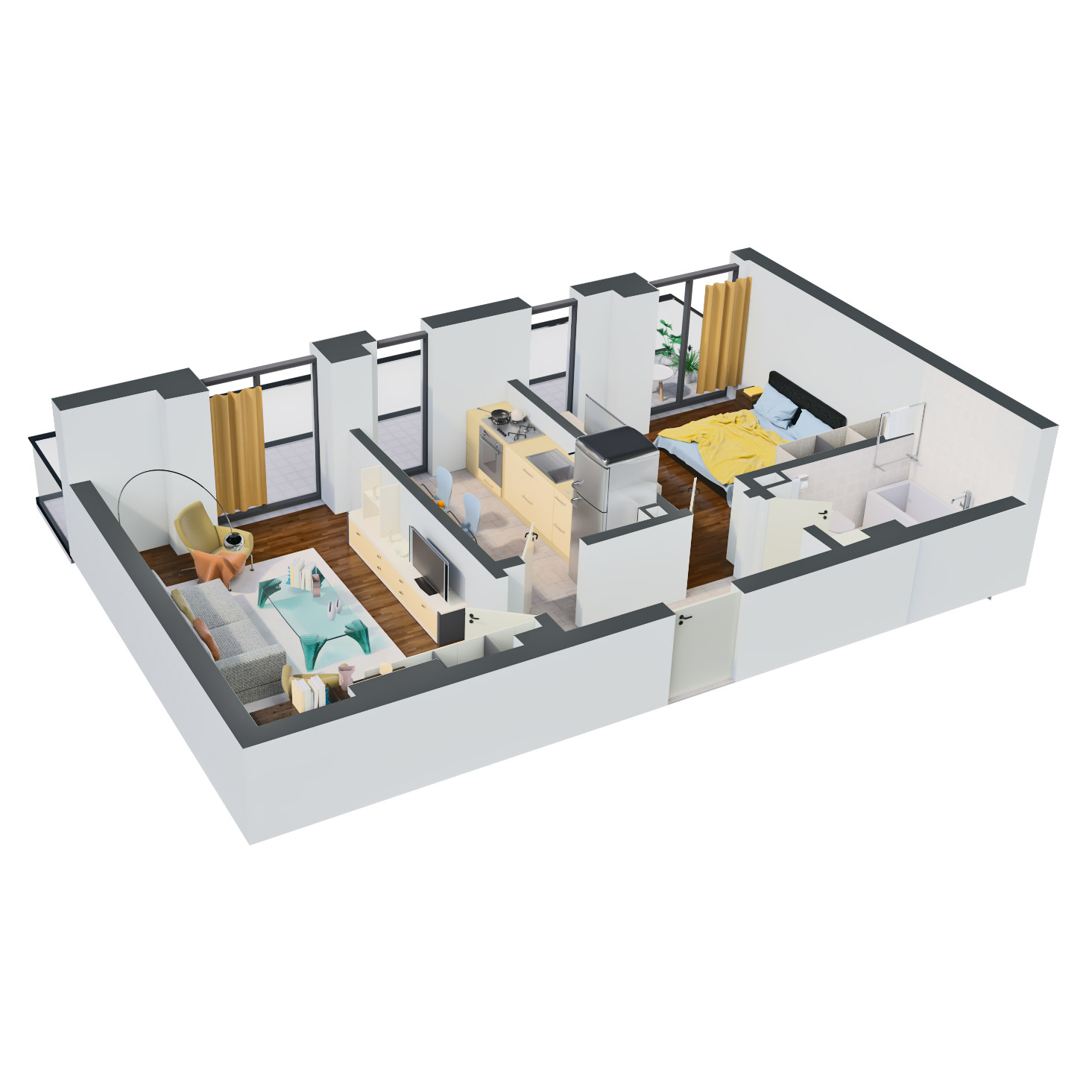 Apartament 2 camere de vanzare Bucuresti - Catedral Residence - Marriott, Piata Unirii, 13 Septembrie, Izvor - Tip 4 - T1 - D