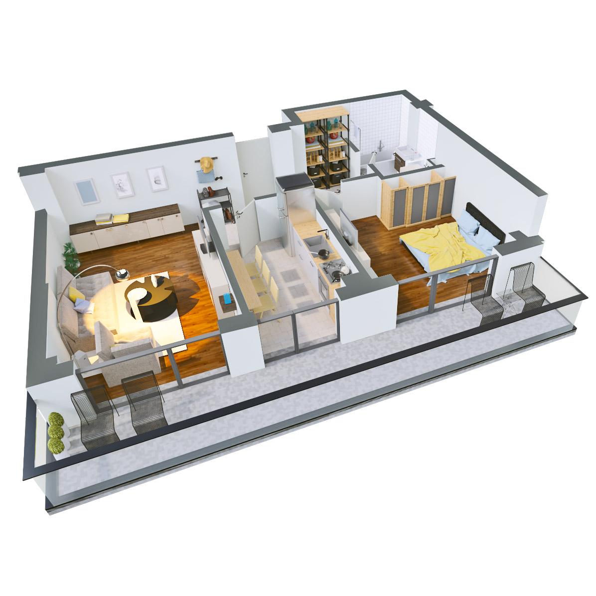Apartament 2 camere de vanzare Bucuresti - Catedral Residence - Marriott, Piata Unirii, 13 Septembrie, Izvor - Tip 4 - T2 - B