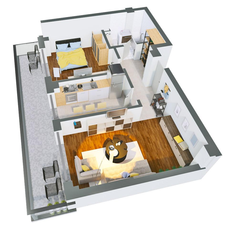 Apartament 2 camere de vanzare Bucuresti - Catedral Residence - Marriott, Piata Unirii, 13 Septembrie, Izvor - Tip 4 - T2A - A