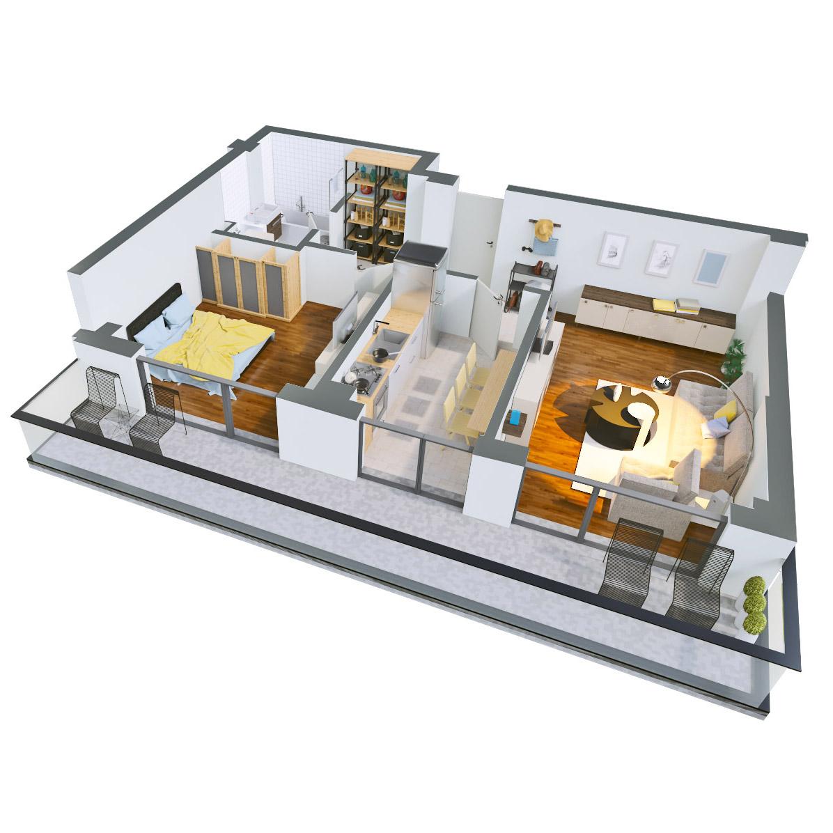 Apartament 2 camere de vanzare Bucuresti - Catedral Residence - Marriott, Piata Unirii, 13 Septembrie, Izvor - Tip 4 - T2A - B