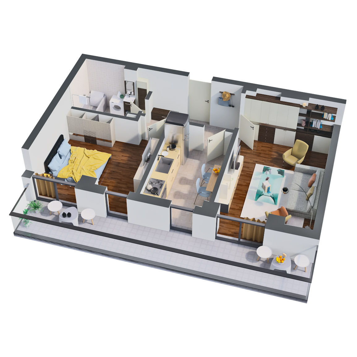 Apartament 2 camere de vanzare Bucuresti - Catedral Residence - Marriott, Piata Unirii, 13 Septembrie, Izvor - Tip 5 - T1 - B