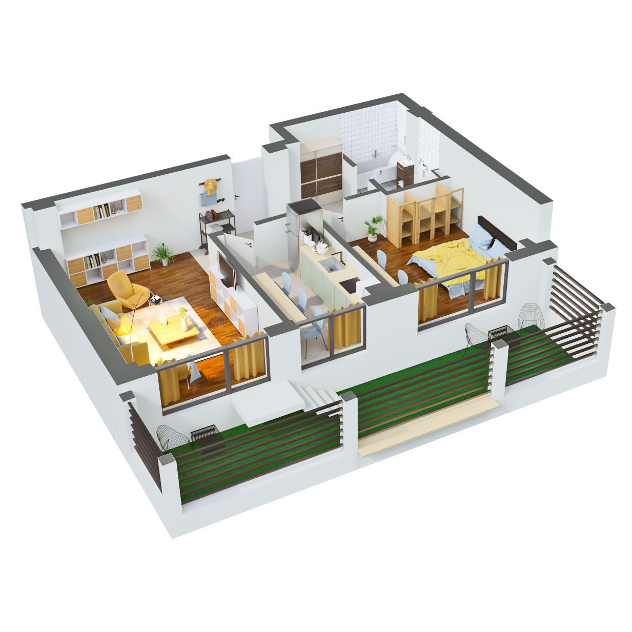 Apartament 2 camere de vanzare Bucuresti - Catedral Residence - Marriott, Piata Unirii, 13 Septembrie, Izvor - Tip 5 - T2 - A
