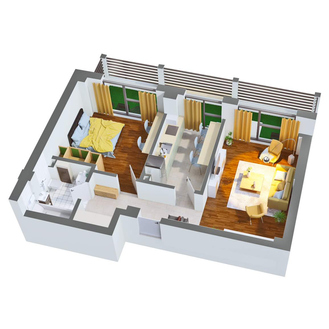 Apartament 2 camere de vanzare Bucuresti - Catedral Residence - Marriott, Piata Unirii, 13 Septembrie, Izvor - Tip 5 - T2 - C