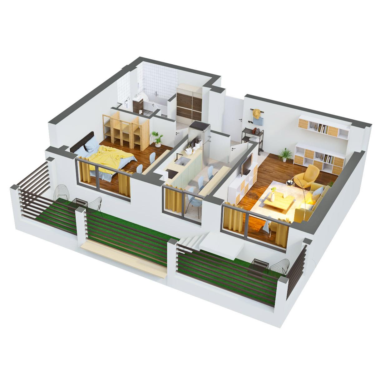 Apartament 2 camere de vanzare Bucuresti - Catedral Residence - Marriott, Piata Unirii, 13 Septembrie, Izvor - Tip 5 - T2A - A