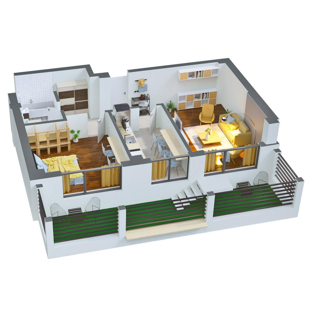 Apartament 2 camere de vanzare Bucuresti - Catedral Residence - Marriott, Piata Unirii, 13 Septembrie, Izvor - Tip 5 - T2A - B