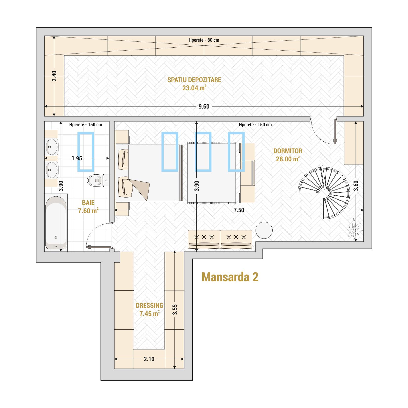 Duplex-3-Camere-Gheorghieni-Marriott-Unirii-13-Septembrie-Izvor-Catedrala-Mantuirii-Neamului-T2A - B