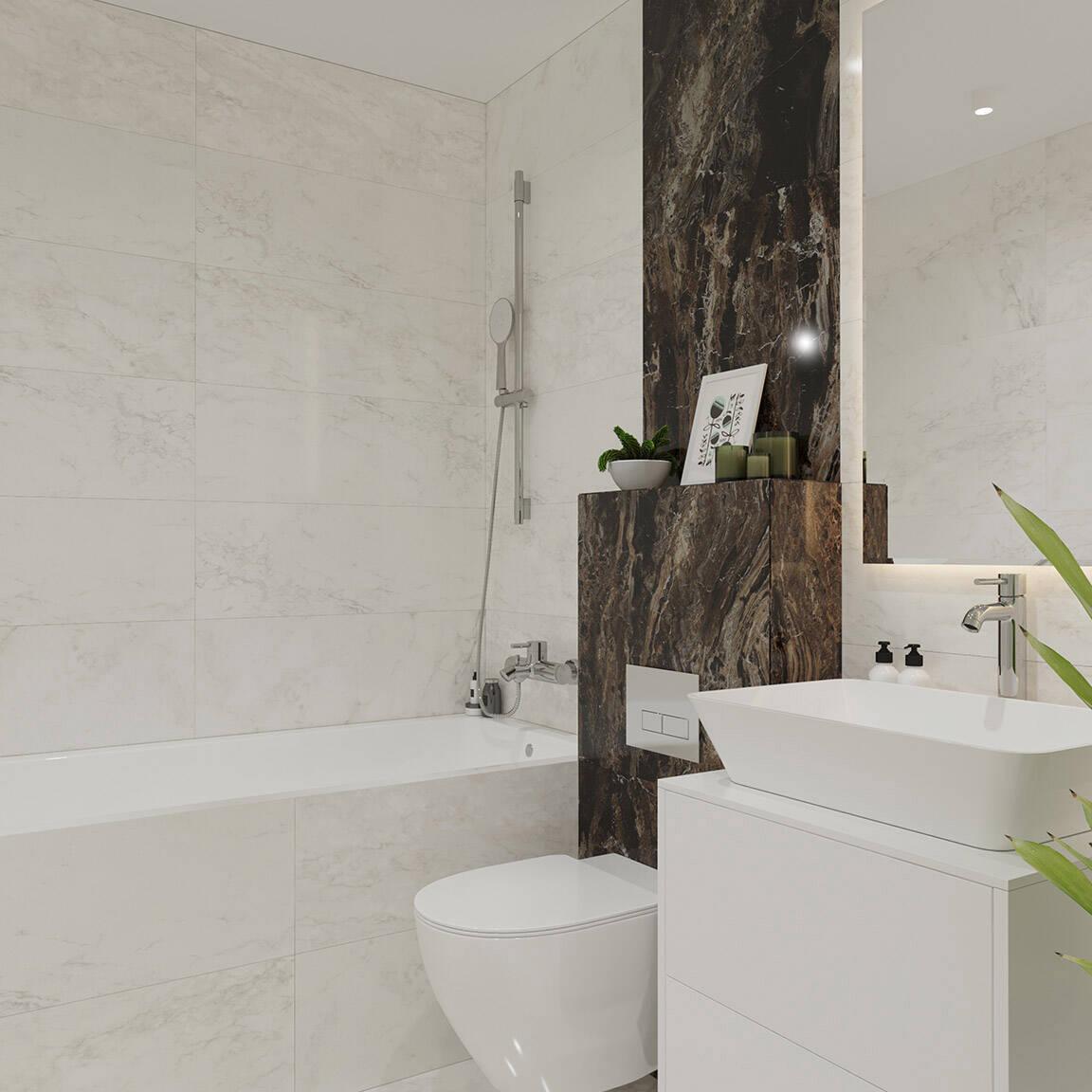 Catedral Residence - Bathroom - Marazzi Ceramic tiles - 1
